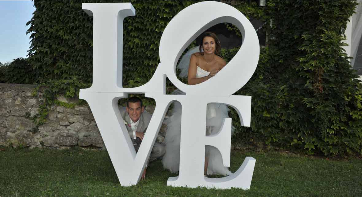 Lettres LOVE mariage