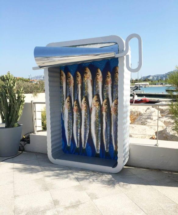 objet photocall boite a sardine