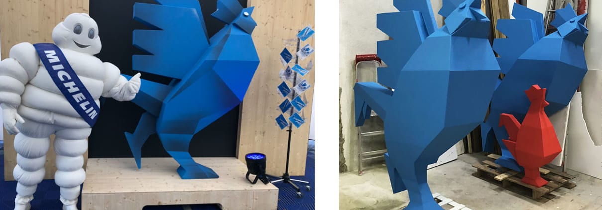 fabriquant-de-décors-3D-coqs-geants
