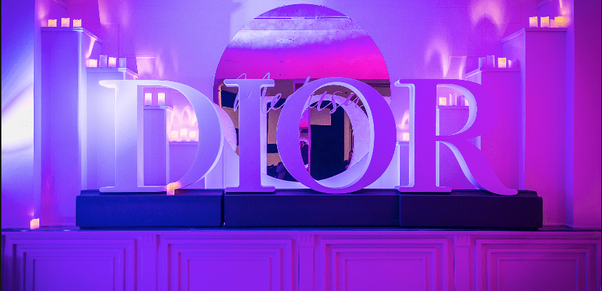 lettres polystyrene dior