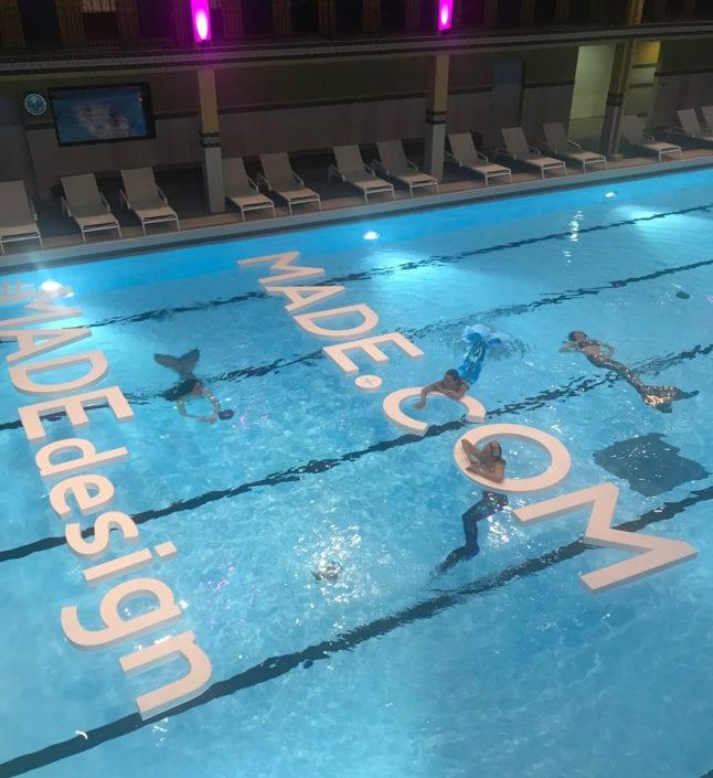 lettres de piscine made