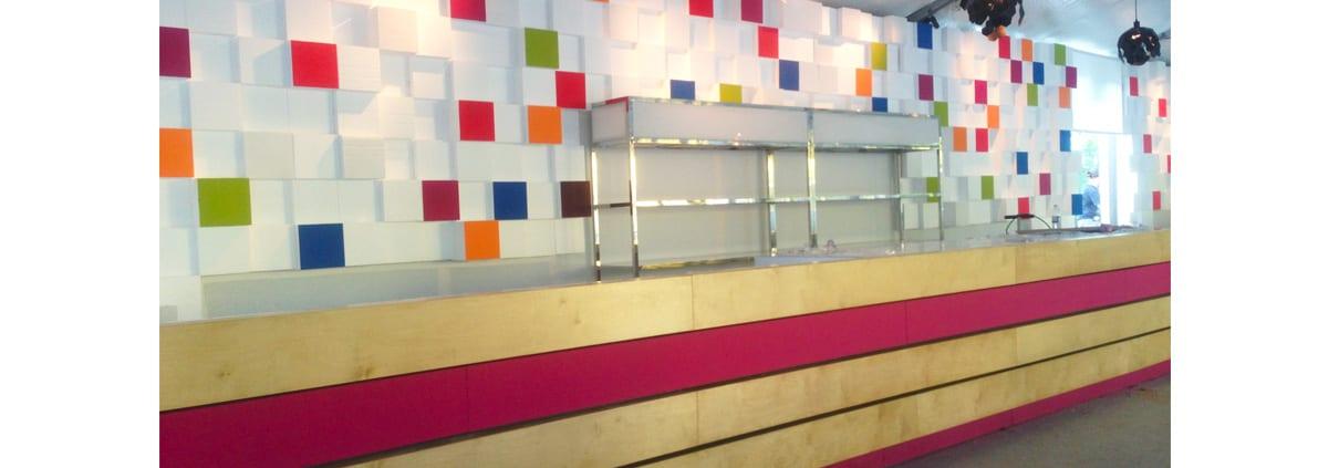 decor evenementiel mur pixel