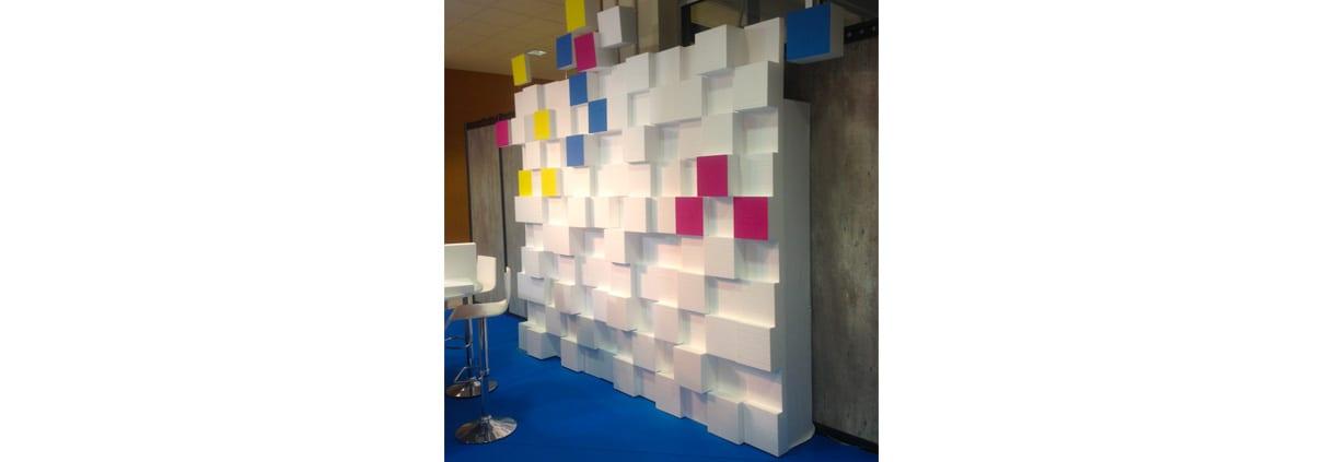 mur de pixel element de decor