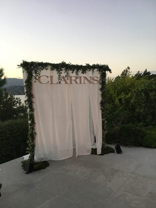 photocall evenement influenceurs clarins