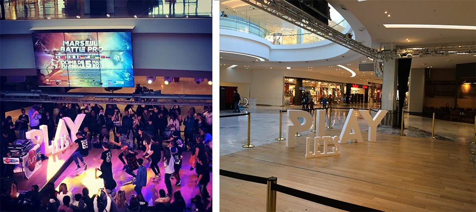 lettres blanches en polystyrene lets play battle pro