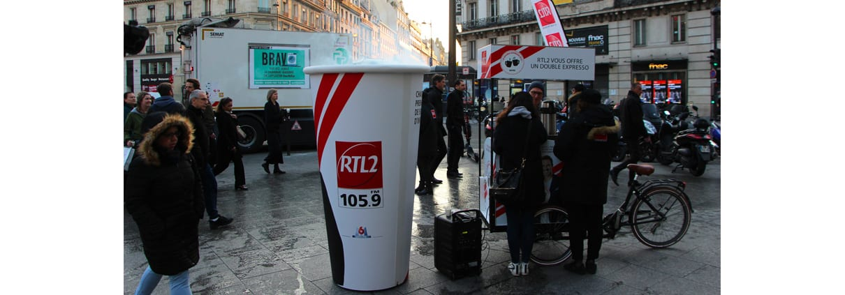 gobelet street marketing rtl2