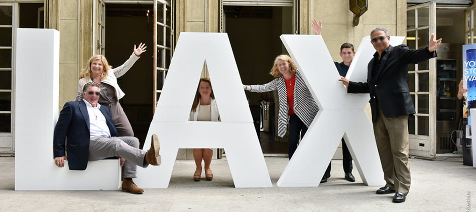 grandes lettres photocall blanc lax