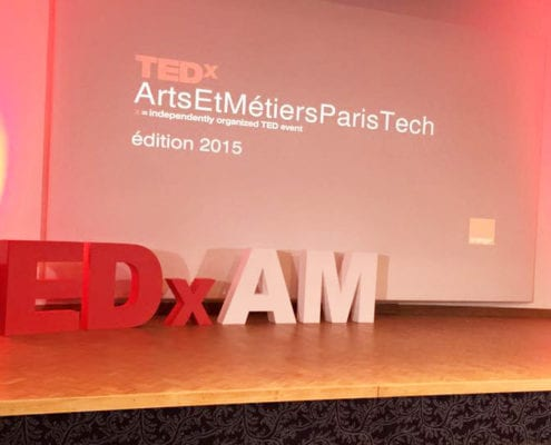 lettrages en volume TEDx AM