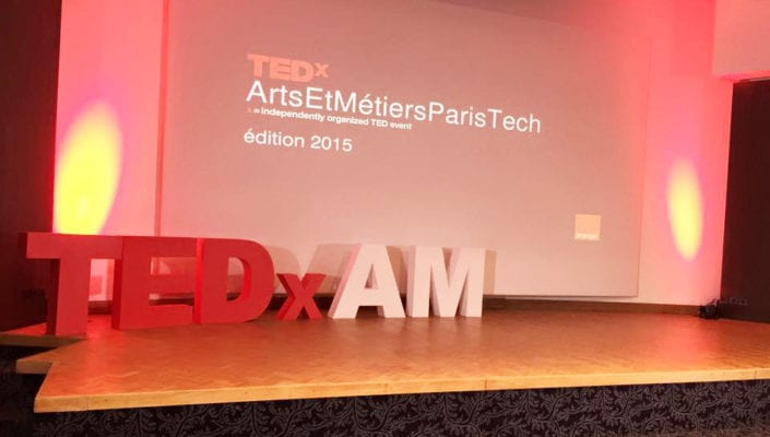 lettrages en volume TEDx AM