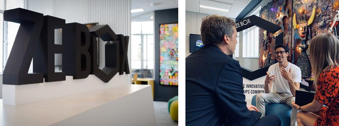 lettrage et logo 3D polystyrene zebox
