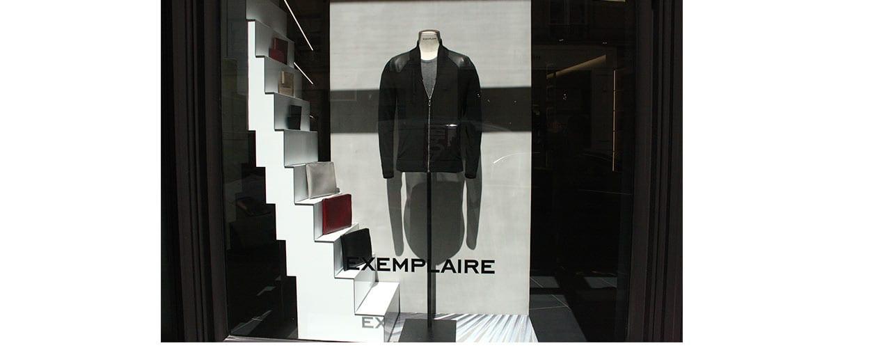 décoration de vitrine-EXEMPLAIRE