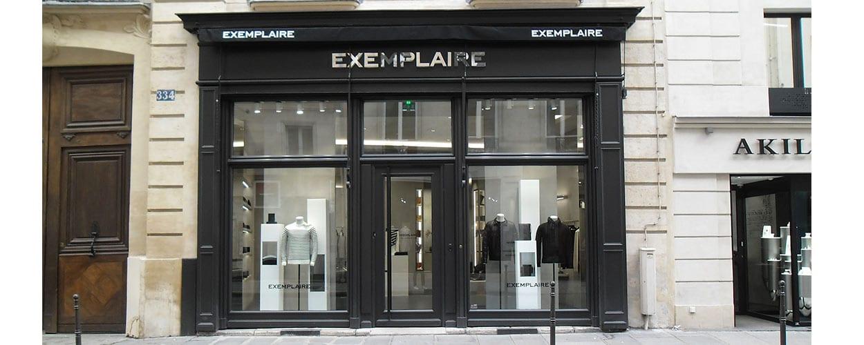 décoration de vitrine-boutique-exemplaire