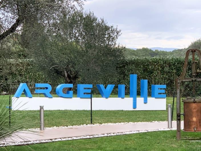 Lettres Géantes De Ville Résine ARGEVILLE