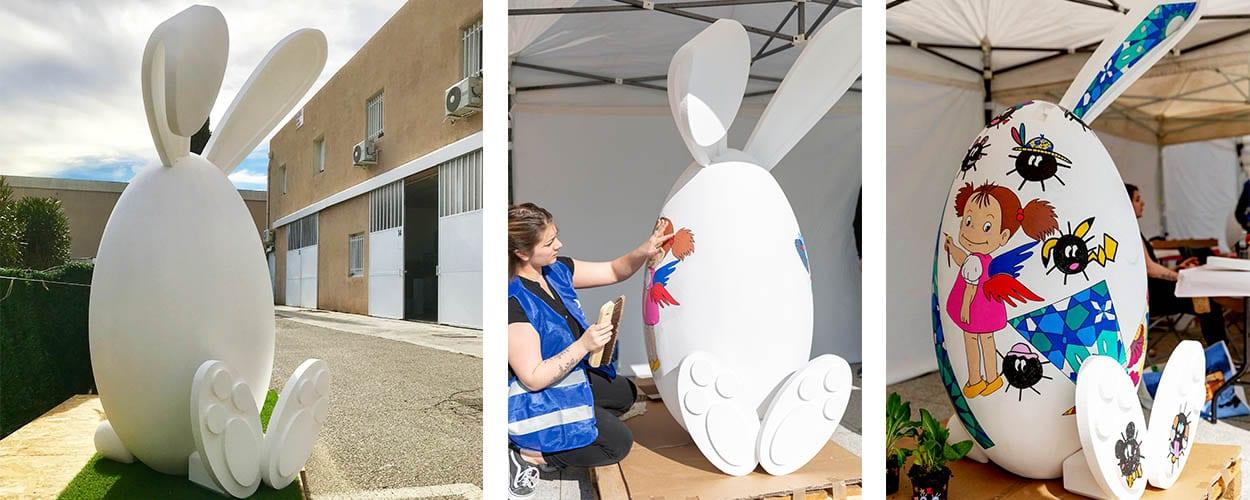 décors-de-pâques-lapin-géant