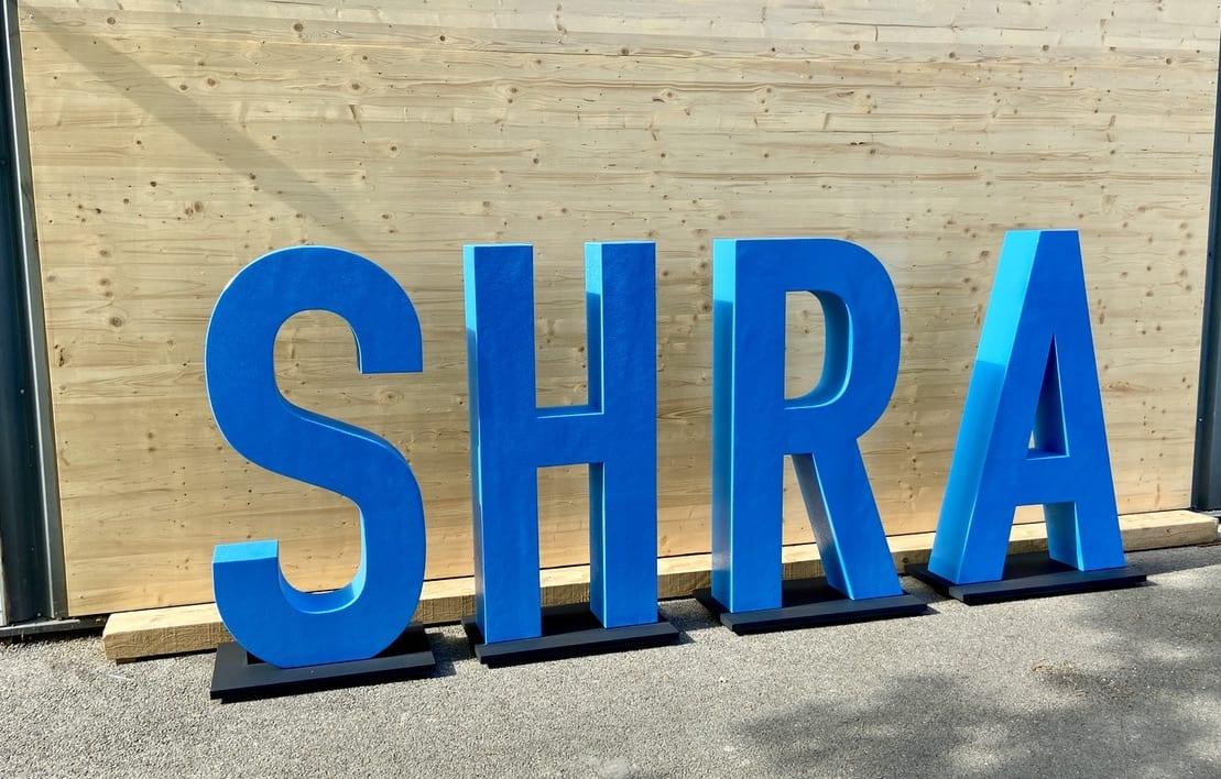 lettres en résine géantes SHRA